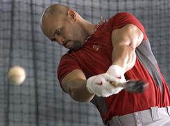 Cardinals first baseman Albert Pujols has vowed not to let his contract situation distract him during the season. He hit .312 and led the National League in homers (42) and RBI (118) last year.