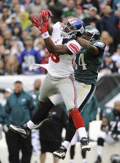 Giants rookie wide receiver Hakeem Nicks was injured early in the season, but has come on strong lately. He and Steve Smith have the potential to be an even better tandem than Plaxico Burress and Amani Toomer were for the Giants.