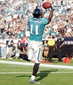 Jacksonville Jaguars Mike Sims-Walker has been on a statistical roller coaster in 2010.