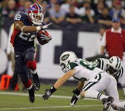 Buffalo's Fred Jackson had a pair of touchdowns in Week 12, but was held to just 31 yards rushing last week against the Jets. Still, Bills head coach Perry Fewell says Jackson remains the team's featured back going forward.