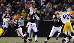 Cleveland quarterback Brady Quinn completed only six passes for 90 yards on Thursday night against Pittsburgh, but the Browns still won the game.