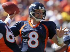 Kyle Orton and the Broncos are leading the NFL in net passing yards.