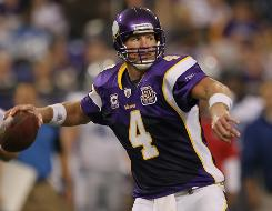 Brett Favre returns to the New York area to face the Jets on  Monday Night Football.