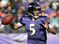 Baltimore Ravens quarterback Joe Flacco has produced solid numbers at home but has been less than stellar on the road.