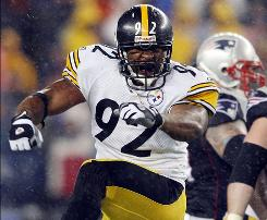 James Harrison and the Steelers defense should give the Patriots plenty of problems.