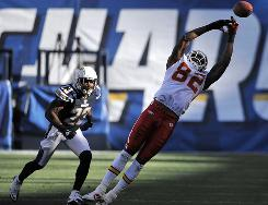 After scoring seven touchdowns in a three-week stretch, Kansas City Chiefs receiver Dwayne Bowe had just one catch for three yards in his last two games.
