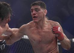 Strikeforce welterweight champion Nick Diaz, right, defeated K.J. Noons on Oct. 9 in San Jose, Calif.