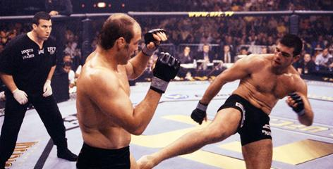"Pedro Rizzo, right, fought Randy ""The Natural"" Couture twice for the Ultimate Fighting Championship's heavyweight title."