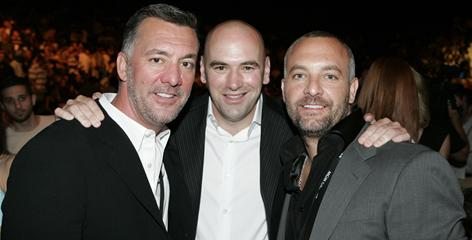 Owners, from left, Frank Fertitta, Dana White and Lorenzo Fertitta have come a long way since Zuffa was founded in 2001.