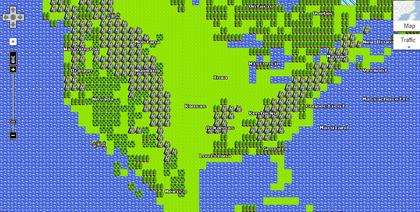 Google Maps gets 8-bit NES treatment