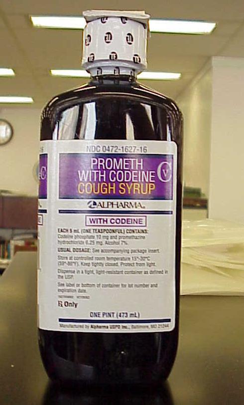 codeine cough syrup.