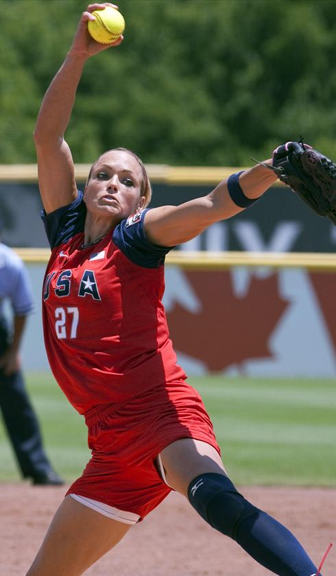jennie finch playing softball. Jennie Finch probably could