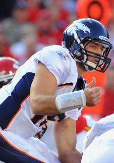 Vegas sets Thursday odds on TIM TEBOW