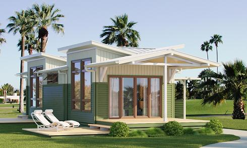 Clayton homes modern green i house