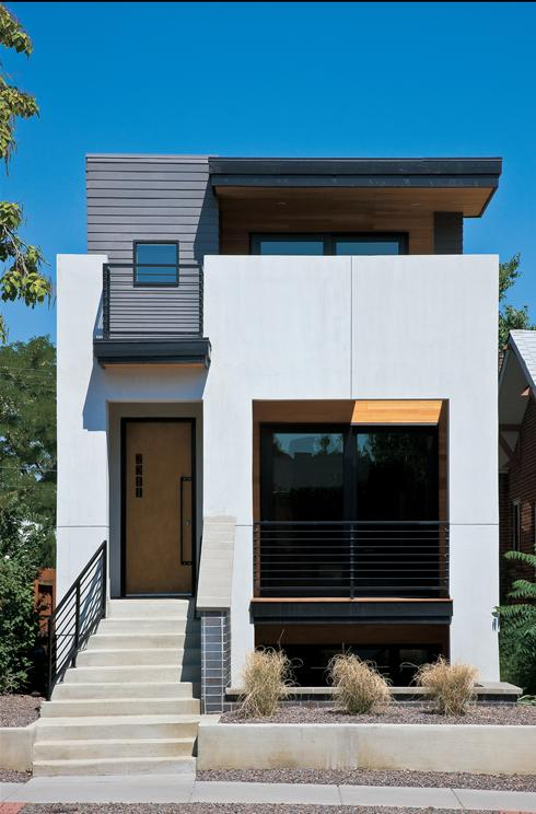 Narrow House Facade Factory Built Homes Go Glam Save Energy