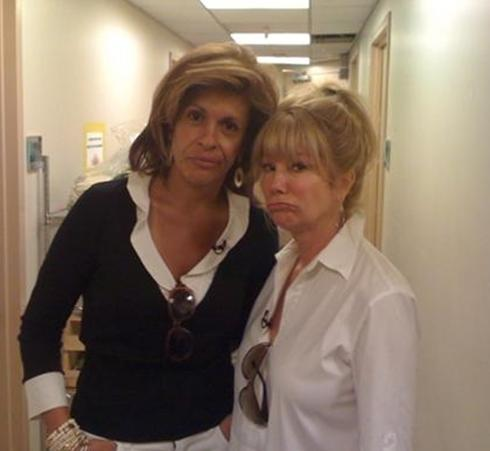 ... Today as she and Hoda Kotb bravely unveiled themselves without makeup