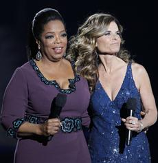 Oprah's Final Show -- Oprah and Maria Shriver - by Charles Rex Arbogast, AP