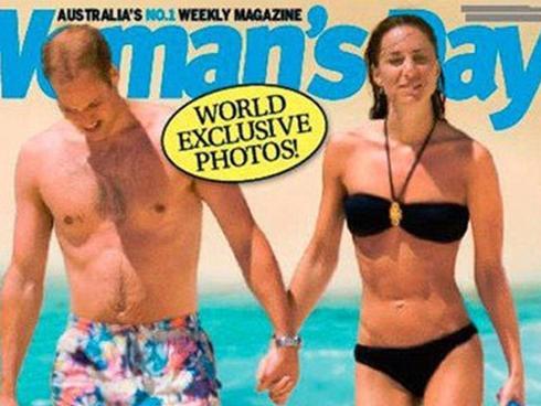 And she looks slim - hip bones visible - in a black bikini.
