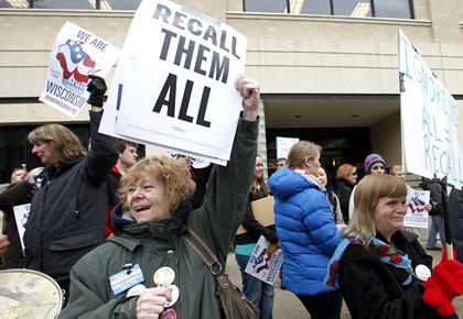 Wisconsin facing record 8 recalls of lawmakers