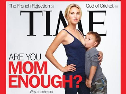 > May 10 - 'Time' breast-feeding cover heats up on social media - Photo posted in BX Daily Bugle - news and headlines | Sign in and leave a comment below!