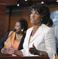 maxine waters, tea party