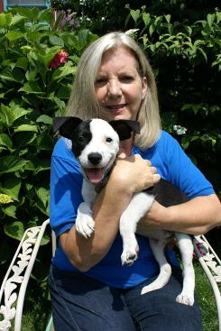 Isabelle Hamel is a pet behavior expert and head trainer at North Shore Animal League America in Port Washington, N.Y., which places about 20,000 pets a year. With her is Henry, a terrier mix.