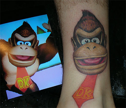 Harrisburg Pa reader Jason P has four Nintendothemed tattoos on his