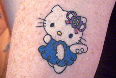 Pictures Of Hello Kitty Tattoos. Hello Kitty tattoo and I