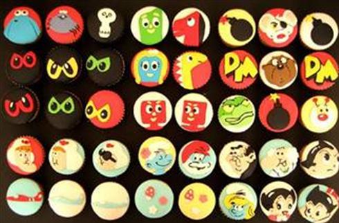 birthday cupcakes cartoon. #39;80s cartoon cupcakes by hello