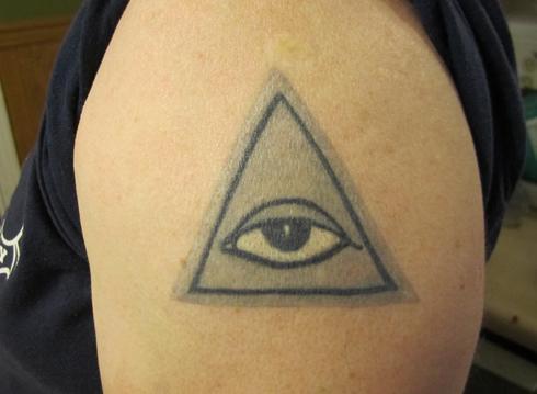 all seeing eye tattoo. The #39;All Seeing Eye#39; tattoo