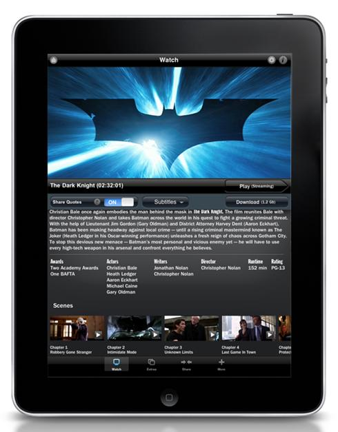 Warner Bros Dark Knight app