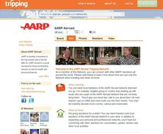 AARP teams with Tripping hospitality social network