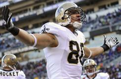 Rookie TE Jimmy Graham had 31 catches and five TDs in his first NFL season.
