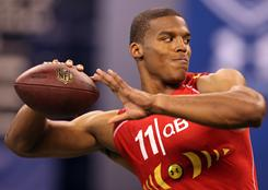 QB Cam Newton showed his arm and legs at the scouting combine.