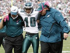Eagles receiver DeSean Jackson suffered a concussion and missed a game after an ugly hit in Week 6 last year.