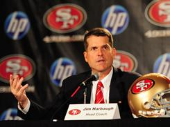 Jim Harbaugh is searching for the 49ers' next QB during the NFL lockout.