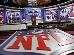 NFL commissioner Roger Goodell will announce the first pick of the draft on April 28.