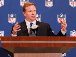 Roger Goodell will announce the first pick of this year's NFL draft on Thursday.
