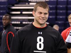 Jake Locker hopes to be taken in the first round of the NFL draft on Thursday.
