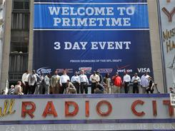 NFL draft prospects appeared at Radio City Music Hall on Wednesday.
