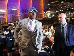 The lights shined on Cam Newton after the Panthers made him the first overall pick on Thursday.