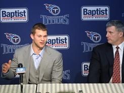 The Titans selected Jake Locker with the eighth overall pick in the NFL draft.
