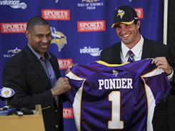 The Vikings surprised many when they chose Christian Ponder with the 12th overall selection.