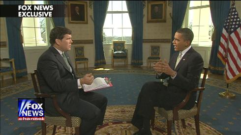 Bret Baier and President Obama