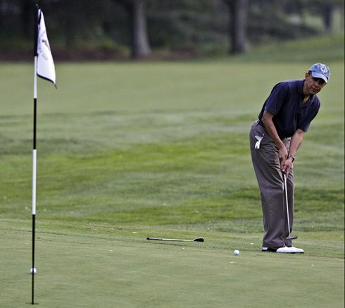 obama on golf course