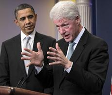 Clinton critiques Obama, GOP on 2012 election