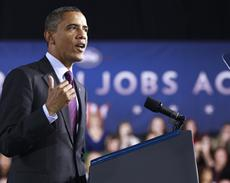 Obama heckled in New Hampshire