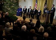 Obama honors Streep, Diamond, Ma, Rollins