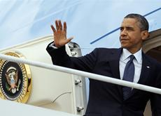 Obamas day: Headed west for campaign cash