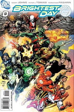 The cover of Brightest Day No. 0, April's top-selling comic book.